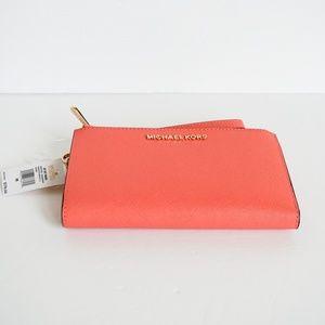 Michael Kors Bags - Michael Kors Double Zip Wristlet Pink Grape Fruit